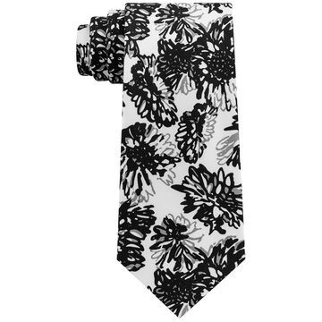 Men's Graphic Tropicana Print Silk Tie