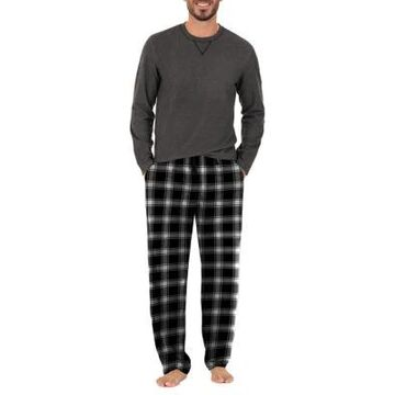 Izod Men's Black Microfleece Boxed Pajama Set - -