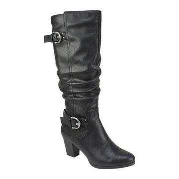 Rialto Women's Farewell Tall Boot Black Smooth Polyurethane