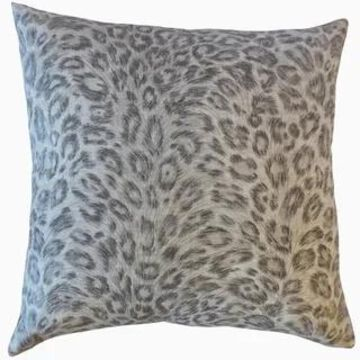 The Pillow Collection Dembe Animal Print Decorative Throw Pillow (Khaki - 24 x 24 - Square)