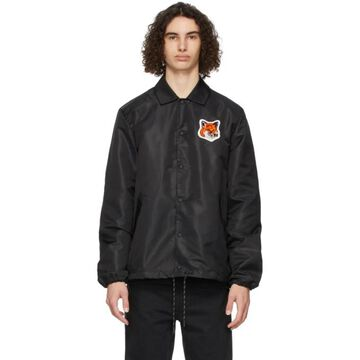 Maison Kitsune Black Velvet Fox Head Bertil Jacket