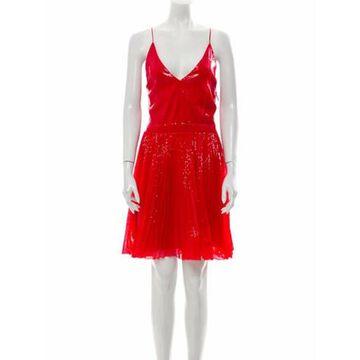 Msgm Sequin Mini Dress Red Msgm Sequin Mini Dress