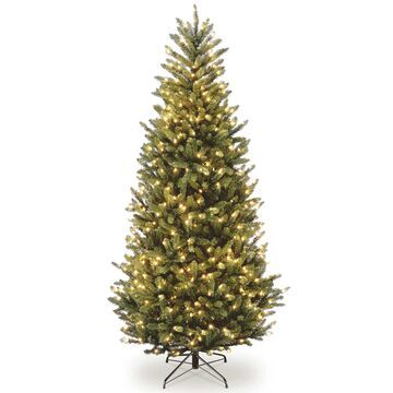 National Tree Company 6.5-ft. Clear Pre-Lit Fraser Fir Slim Artificial Christmas Tree