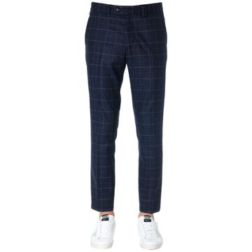 Mauro Grifoni Dark Grey Check Wool Pants