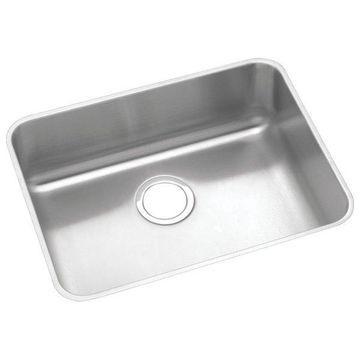 Elkay Lustertone Stainless Steel Single Bowl Undermount Sink, Lustrous Satin