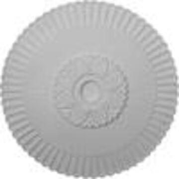 Ekena Millwork Melonie 36.25-in x 36.25-in White Polyurethane Ceiling Medallion