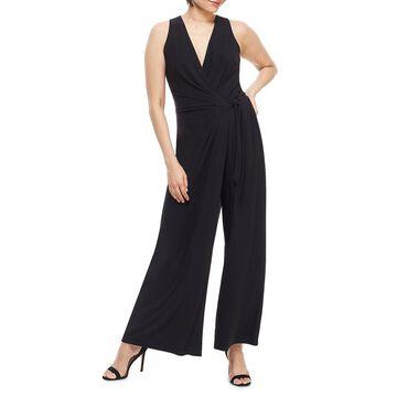 Wrap Top Side-Tie Wide-Leg Jumpsuit