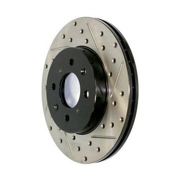 StopTech 127.62023R StopTech Sport Rotors; Drilled And Slotted; Front Right;9.69 in. Dia.; 1.89 in. Height;