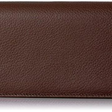 Buxton Roma Expandable Clutch, Chocolate Brown