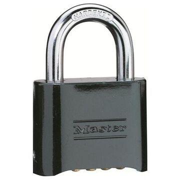 Master Lock No. 178 Solid Brass Combination Padlock, Resettable