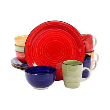 Color Vibes 12-Pc. Dinnerware Set