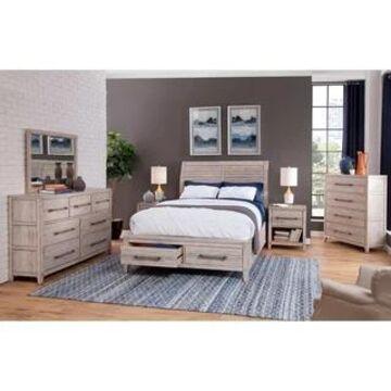 Asher Sleigh Storage Bed by Greyson Living (Antique Whitewash - Queen)