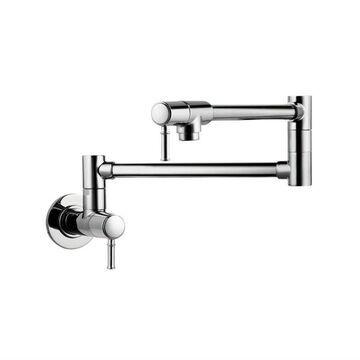 Hansgrohe Talis C Polished Nickel 1-Handle Wall-Mount Bar and Prep Handle Kitchen Faucet