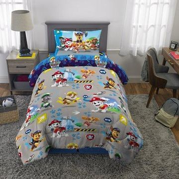 PAW Patrol 4Pc Bed in a Bag Set, Twin Size, with Bonus Tote!
