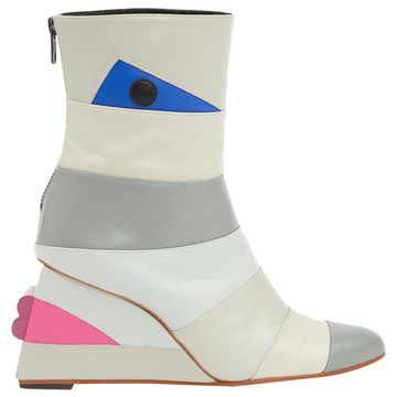 Issey Miyake Grey Leather Boots