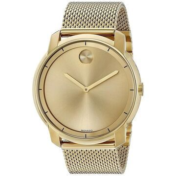Movado Men's 'Bold' Gold-Tone Stainless Steel Watch
