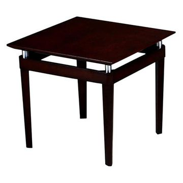 Mayline Napoli Square End Table in Mahogany