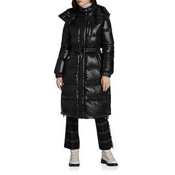 Woolrich Aliquippa Hooded Shiny Puffer Coat
