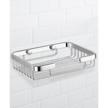 General Hotel Chrome Wall-Mounted Wire Shower Basket