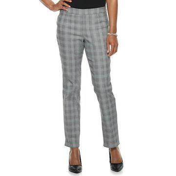 Petite Briggs Slim Panel Mid-Rise Pull-On Pants