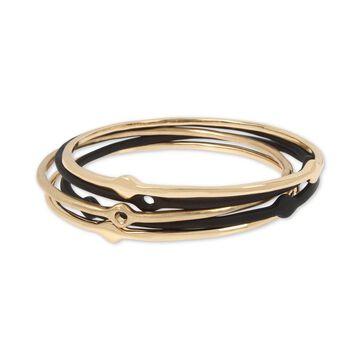 Two-Tone 5-Pc. Set Bangle Bracelets