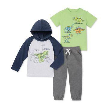 Baby Boys 3-Pc. Dinosaur T-Shirts & Jogger Pants Set