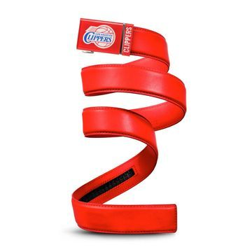 LA Clippers Zephyr Leather Mission Belt - Red