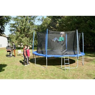 Upper Bounce 12 ft. Trampoline and Enclosure Set with 'Easy Assemble'