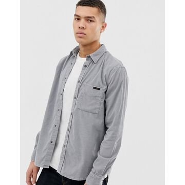 Nudie Jeans Co Sten cord shirt in ash gray