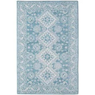 Amer Rugs Bobbie Sarah Hand-Tufted Wool 5' X 7'6 Area Rug In Blue