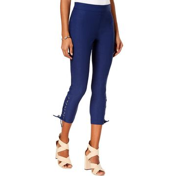 XOXO Womens Dancer Lace-Up Cropped Skinny Pants