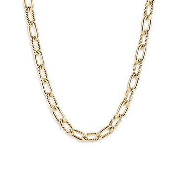 David Yurman 18K Yellow Gold Madison Link Necklace, 18.5