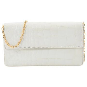 Elie Saab White Leather Clutch bags