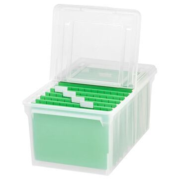 IRIS Letter Size File Box Storage, 5 Pack, Clear (Clear - Plastic - Letter - Modern & Contemporary)
