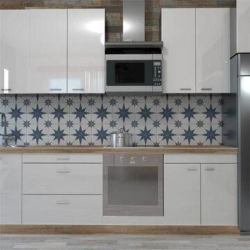 SomerTile 9.75x9.75-inch Cilento Azul Porcelain Floor and Wall Tile (16 tiles/11.11 sqft.)