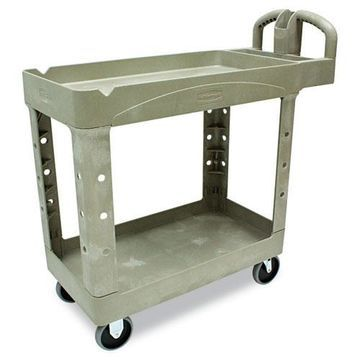 Rubbermaid Heavy Duty 2 Shelf Utility Cart