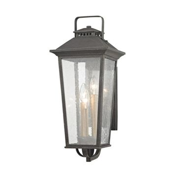 allen + roth Prospect Hill 9.125-in W 3-Light Aged Pewter Transitional Wall Sconce