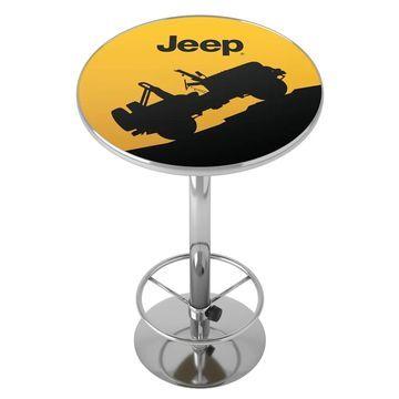Jeep Silhouette Chrome Pub Table