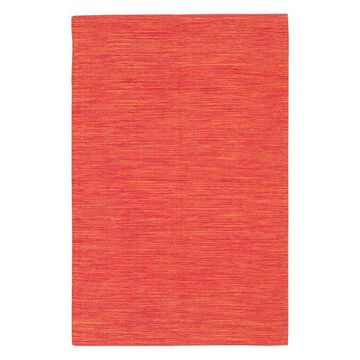 India Contemporary Area Rug, Bright Red, 3'6x5'6 Rectangle