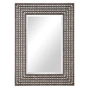 Uttermost Tarquin Crosshatched Mirror