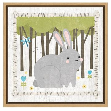 Amanti Art 'Woodland Hideaway Bunny' by Moira Hershey