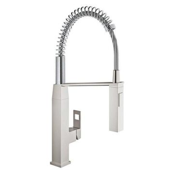 Grohe 31 401 Eurocube Pre-Rinse Kitchen Faucet, SuperSteel