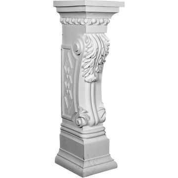 Ekena Millwork 9.875-in W x 34.625-in H White Architectural Fireplace Surround
