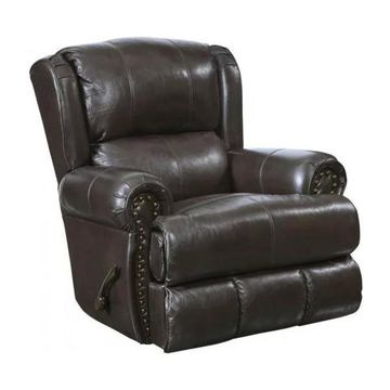 Deluxe Glider Recliner in Chocolate Finish