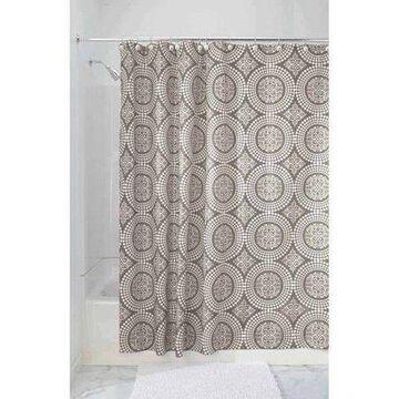 InterDesign Medallion Fabric Shower Curtain, Stall 54