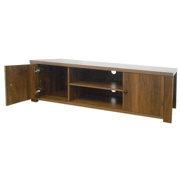 Goplus TV Stand for TV's Up to 65 inch w/Storage Cabinets and Shelves in Brown | HW64555BN