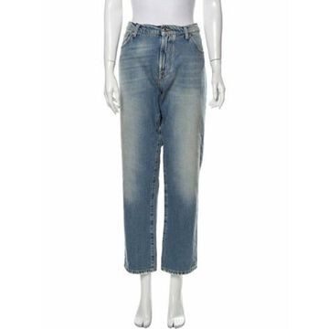 Msgm High-Rise Straight Leg Jeans w/ Tags Blue Msgm High-Rise Straight Leg Jeans w/ Tags