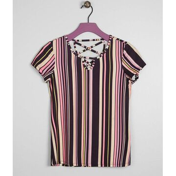 Girls - Daytrip Striped Faux Suede Top