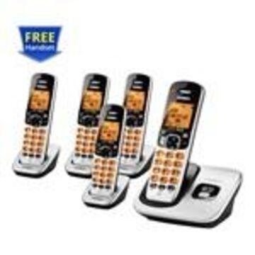 Uniden D1760-5 DECT 6.0 Cordless Phone w/ 4 Extra Handsets
