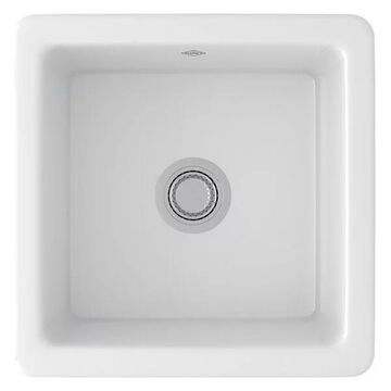 Rohl Shaws Fireclay Dual-Mount Kitchen Sink, White